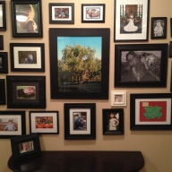 Upstairs hallway back photo wall