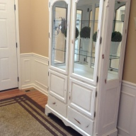 Chalk Painted China Cabinet