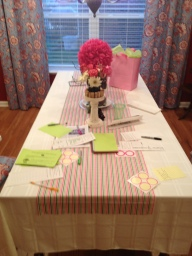 Guest check in Tablescape