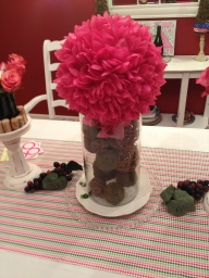 Kissing ball topiary style on top of the moss and grapevine balls hurricane