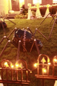 Racing PVC Spiders. The ribbons are supposed to be their team colors