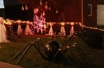 PVC Pipe Racing Spider lit up atnight
