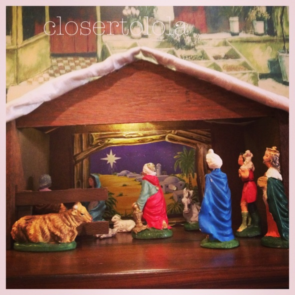 My Favorite Christmas Decoration. My Godmother's Nativity Set.